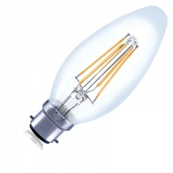 B22 Glas Candle 470Lm 4,5...